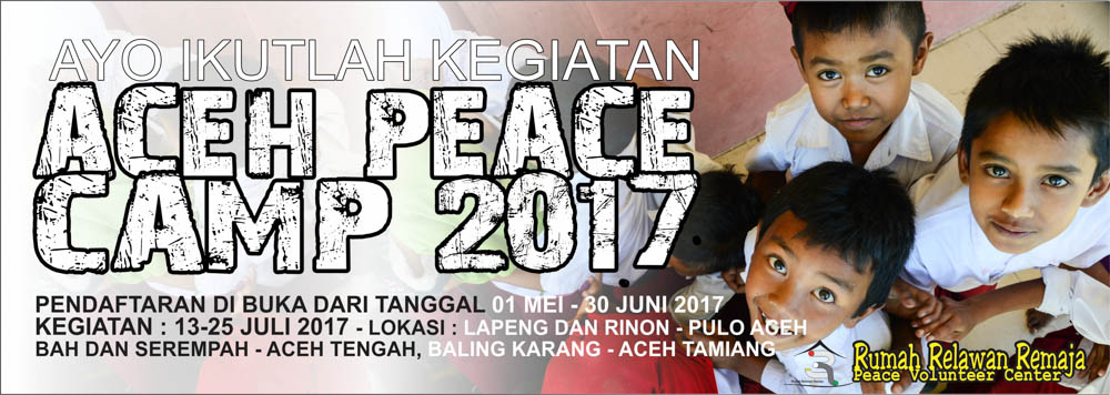 Pendaftaran Aceh Peace Camp 2017