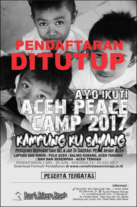 Pendaftaran Aceh Peace Camp 2017 Ditutup
