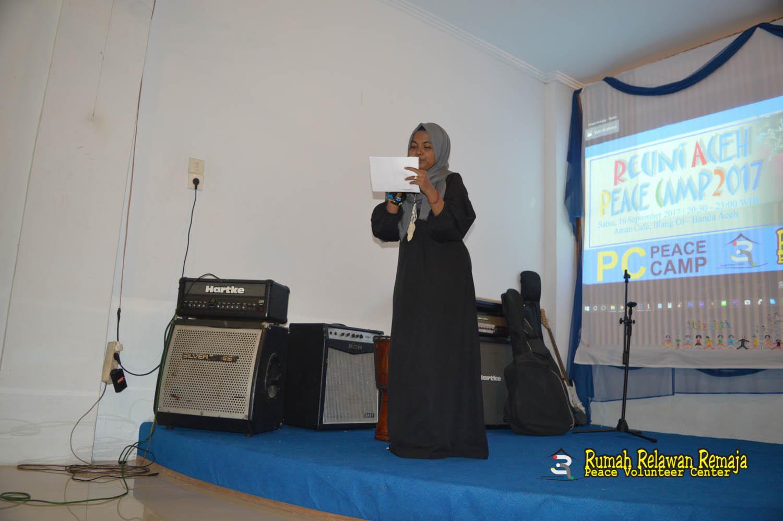 Pembukaan acara reuni Aceh Peace Camp 2017