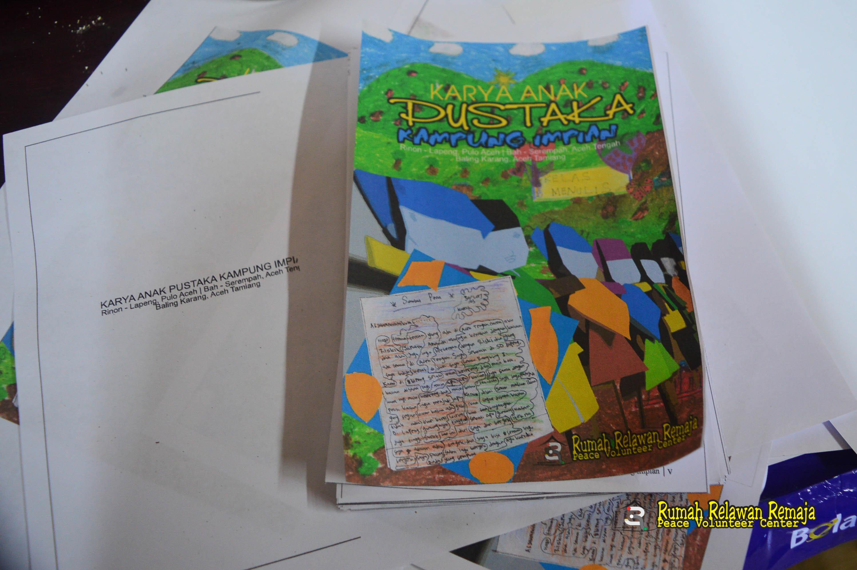 Buku karya anak Pustaka Kampung Impian