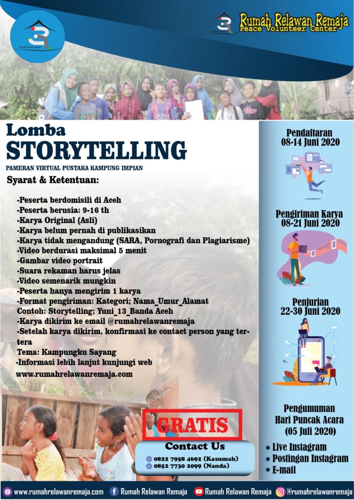 Aturan Lomba Storytelling : Rangkaian Lomba Pameran Virtual Pustaka Kampung Impian