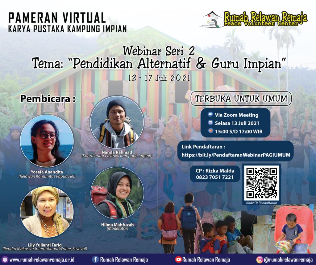 Webinar Seri 2 Pameran Virtual Pustaka Kampung Impian